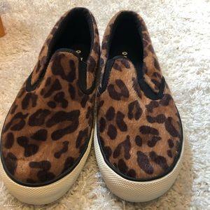 Airwalk Shoes - NIB Airwalk Fuzzy Leopard Print Slip Ons 9.5